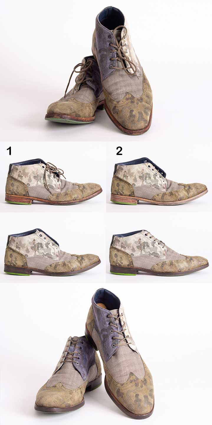 Pomp Schuhe camouflage