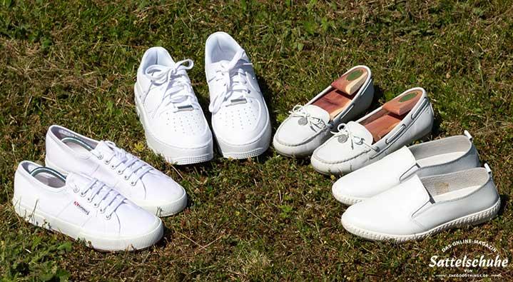 big sale b3d1a 50ad5 Weiße Schuhe bleiben weiß